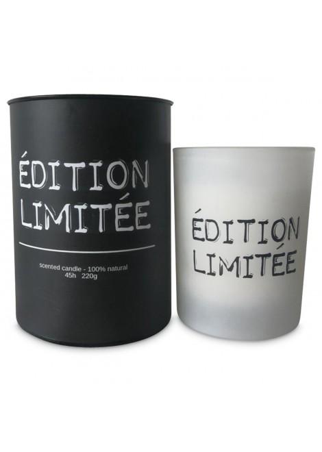 Bougie message 'Édition limitée' (D.8xH.10cm) Décoration