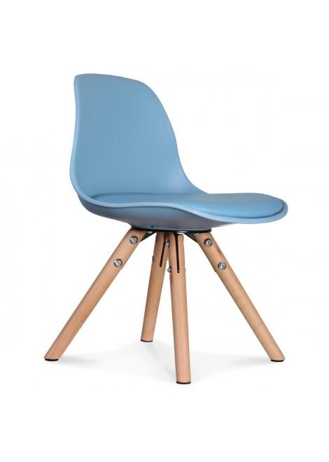 Chaise enfant mini scandinave bleu adriatique Mobilier d'intérieur