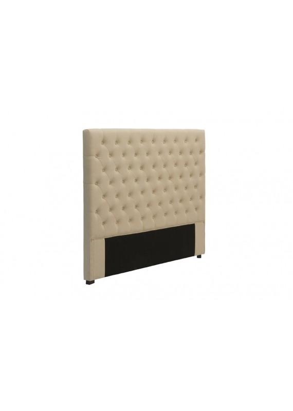 t te de lit capitonn e 180 cm lin beige chesterfield. Black Bedroom Furniture Sets. Home Design Ideas