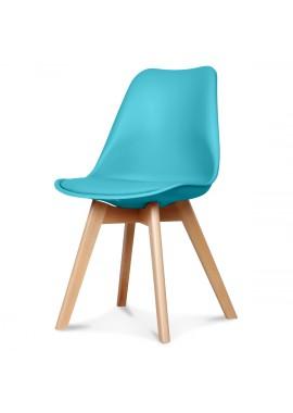Chaise design scandinave bleu Scandy