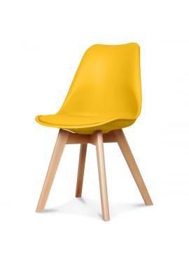 chaise design scandinave jaune scandy couleur jaune. Black Bedroom Furniture Sets. Home Design Ideas