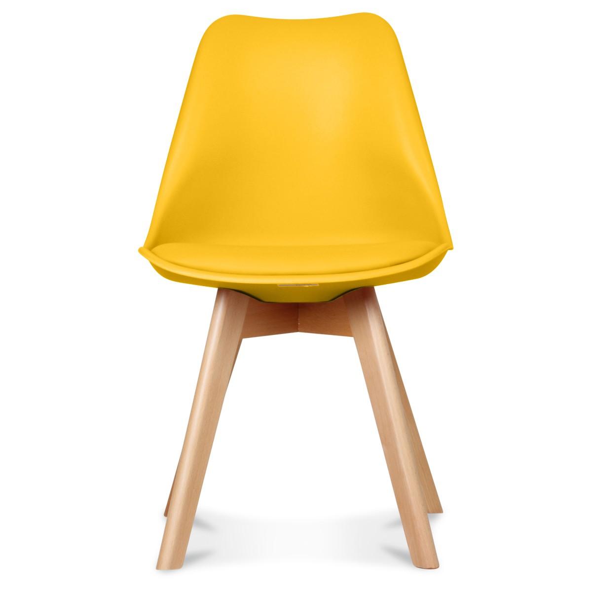 chaise design scandinave jaune scandy couleur jaune matiere plas. Black Bedroom Furniture Sets. Home Design Ideas