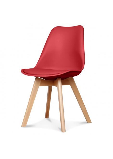 chaise design scandinave rouge scandy couleur rouge matiere plas. Black Bedroom Furniture Sets. Home Design Ideas