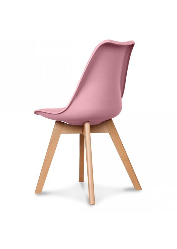 chaise design scandinave rose scandy couleur rose matiere plasti. Black Bedroom Furniture Sets. Home Design Ideas