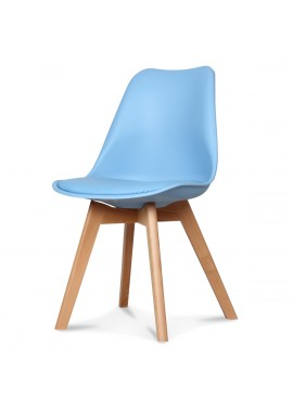 Chaise design scandinave bleu adriatic Scandy