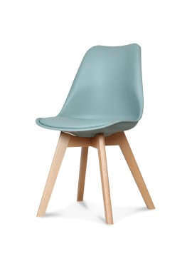 Chaise design scandinave vert thym Scandy