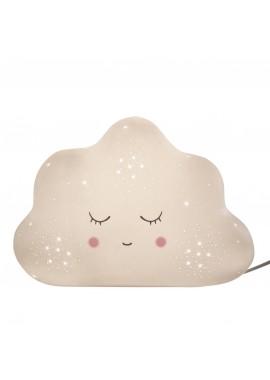 Lampe en porcelaine biscuit Nuage (L.25cm)