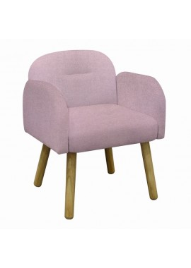 Fauteuil design scandinave rose orchidé Hans