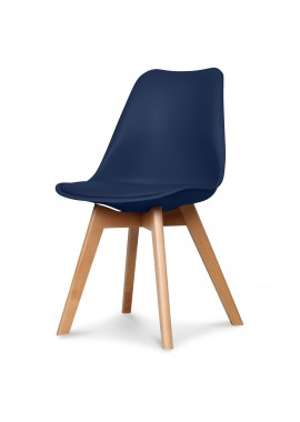 Chaise design scandinave bleu navy Scandy