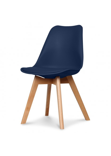 chaise design scandinave bleu navy scandy couleur bleu marine mat. Black Bedroom Furniture Sets. Home Design Ideas