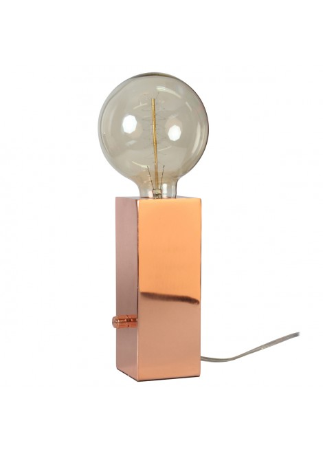 Lampe Totem métal cuivré (H.20cm)