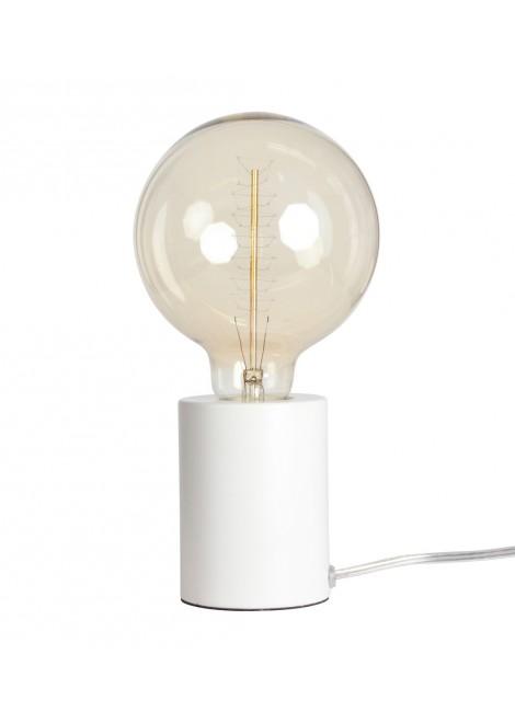 Lampe tactile blanc mat (D.7,5xH.9,5cm)
