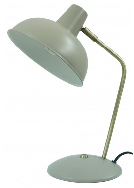 Lampe à poser grise métal Tori (H.37,5cm)