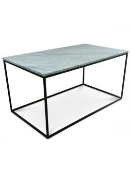 Table basse en marbre blanc Square (90x50xH.45cm)