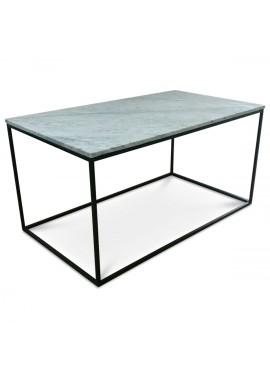 Table basse en marbre blanc Square (90x50xH.45cm)