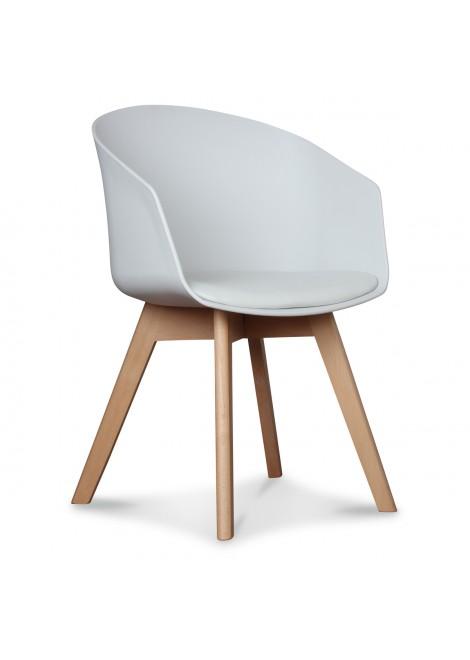 fauteuil scandinave blanc couleur blanc matiere plastique haute. Black Bedroom Furniture Sets. Home Design Ideas