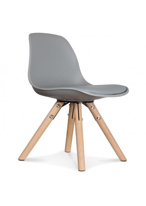 Chaise enfant mini scandinave grise
