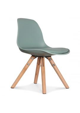Chaise enfant mini scandinave vert thym