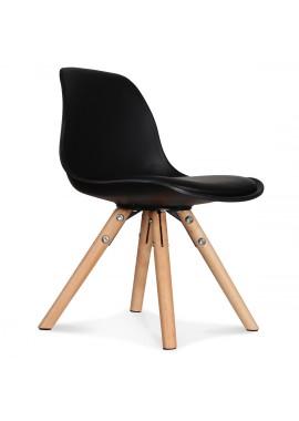 Chaise enfant mini scandinave noire