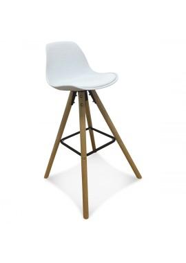 Chaise de bar scandinave blanche