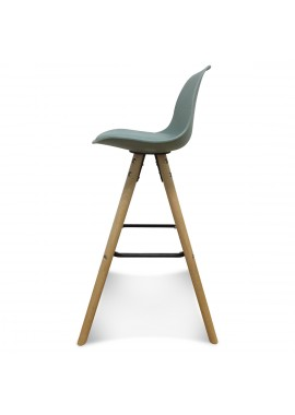 Chaise de bar scandinave vert thym