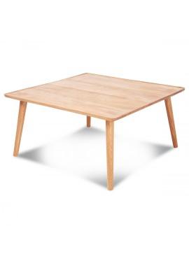 Table basse carrée en chêne massif huilé Curve (80x80xH.50cm)