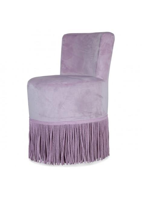 fauteuil à franges Chic rose