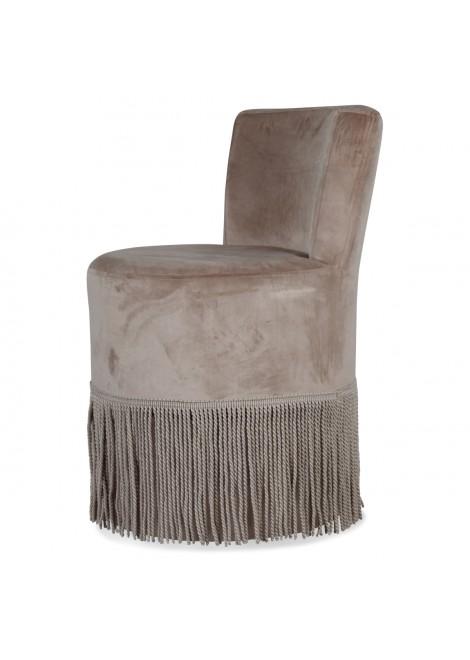 fauteuil à franges Chic taupe