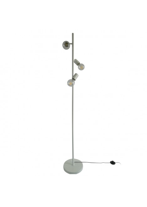 Lampadaire Trio en métal blanc (H.155cm)