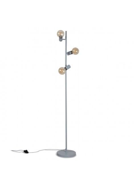 Lampadaire Trio en métal gris (H.155cm)