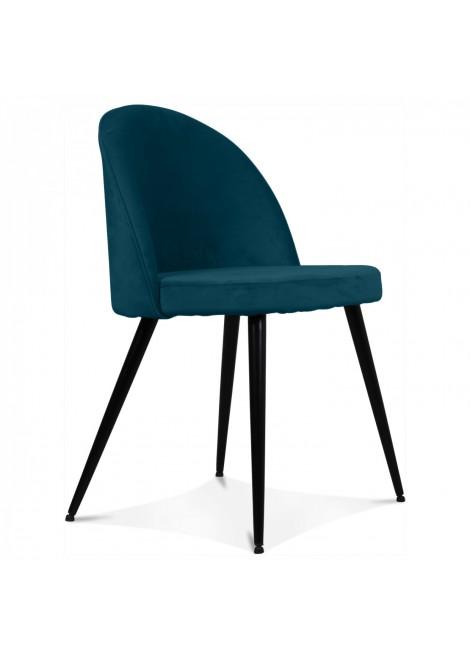 chaise ingrid bleu canard couleur bleu canard matiere. Black Bedroom Furniture Sets. Home Design Ideas