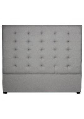 Tête de lit Edouard 140cm grise (H.120cm)