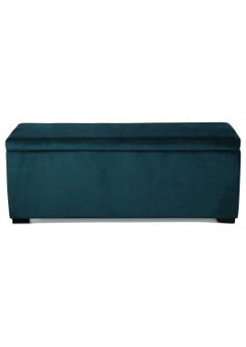 Banquette coffre velours vert menthe (120x40xH.45cm)