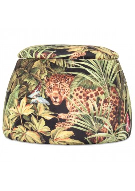 Tabouret coffre Dôme jungle (D.56xH.40cm)
